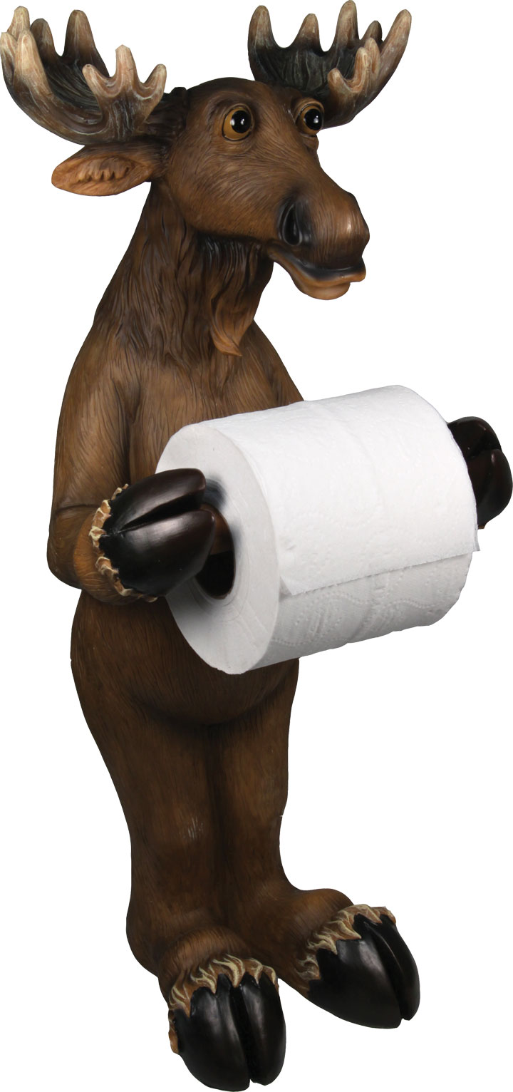 Standing Moose Toilet Paper Holder