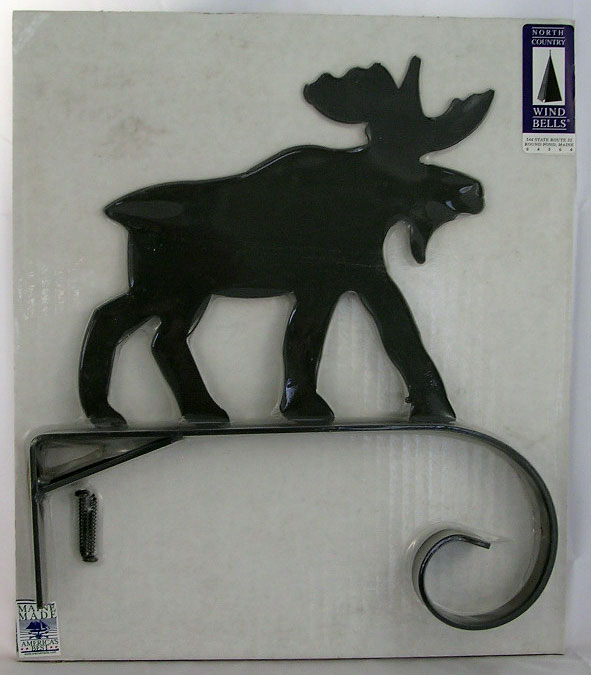 Black Metal Moose Hook - On Top
