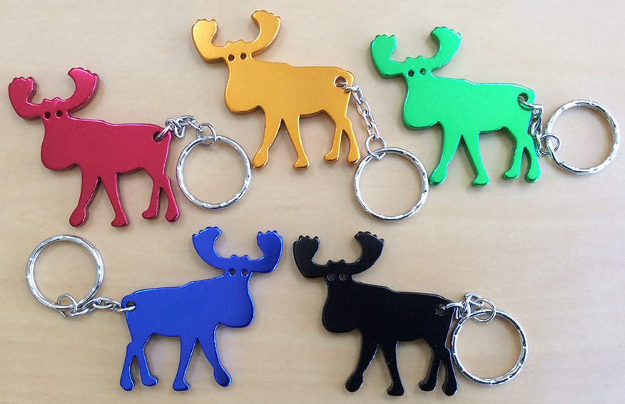 Aluminum Moose Key Chain - Red