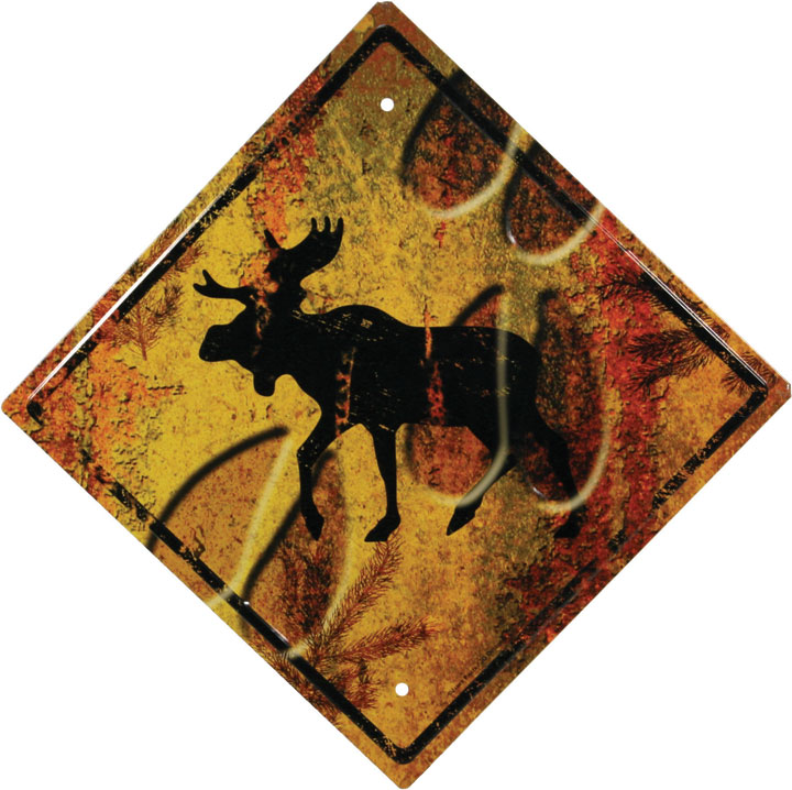 "Artisitic Moose 16"" Crossing Sign"